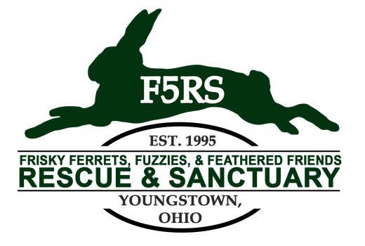 Frisky Ferrets, Fuzzies, & Feathered Friends Rescue logo